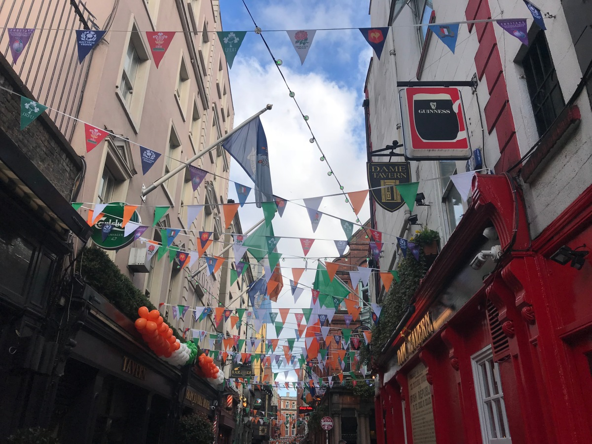 Dublin St Patrick's Day decorations