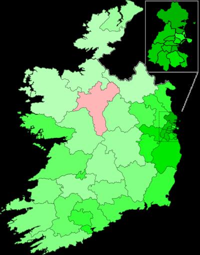 Irish Marriage Equality map