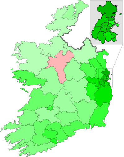 Irish Marriage Equality map