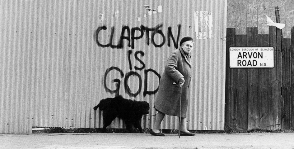 Clapton is God Graffiti in London