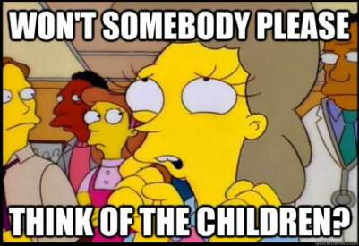 Simpsons - won't somebody please think of the children?
