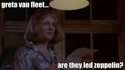 John Paul Jones: Greta Van Fleet... Are They Led Zeppelin meme