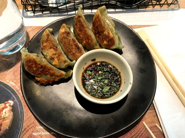 vegetable gyozas from Wagamama