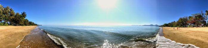 Panorama of Holloways Beach Cairns