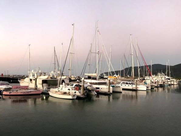 Sunset, Cairns Marina, Boats