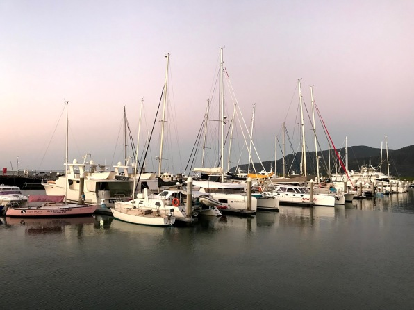 Sunset, Cairns Marina, Boats