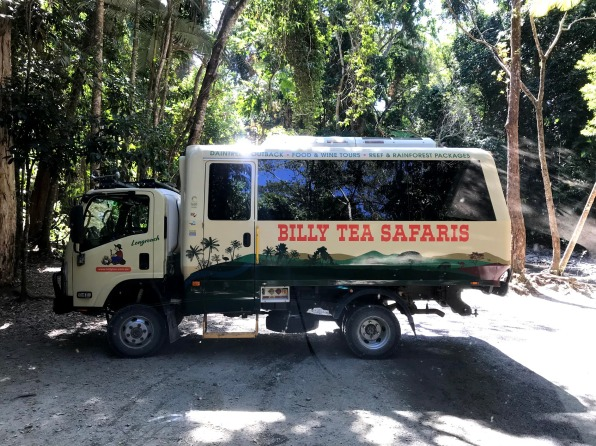 Billy Tea Safaris van in Daintree Rainforest
