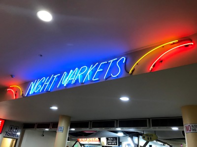 Cairns Night Markets Neon Sign