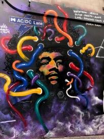 AC:DC Lane Melbourne Jimi Hendrix