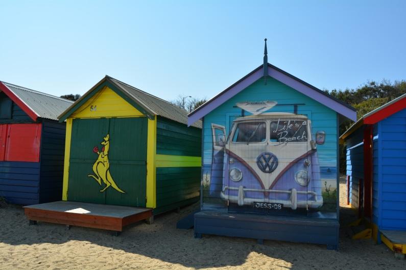 Brighton Beach Box Kangaroo and VW Hippie Bus