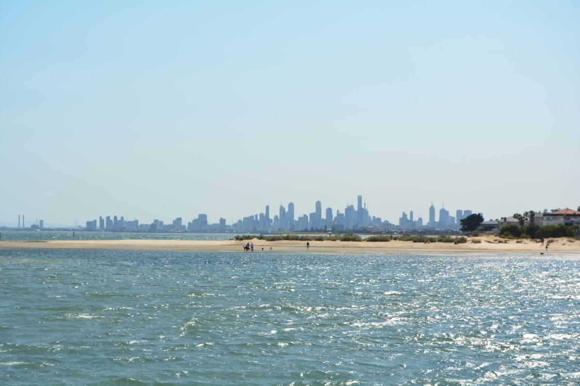 Melbourne City Skyline from Brighton Beach
