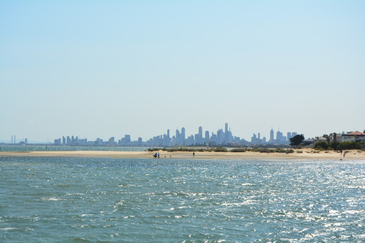 Melbourne City Skyline from Brighton Beach