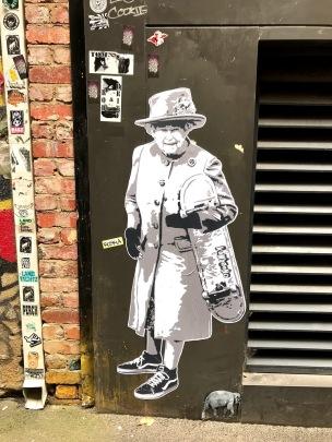 Melbourne Street Art Queen Elizabeth II