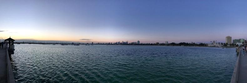 St Kilda Pier panorama sunset