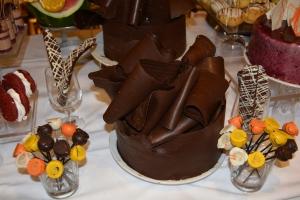 Independence of the Seas NYE dessert - chocolate cake closeup