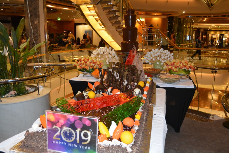 Independence of the Seas NYE dessert 2019