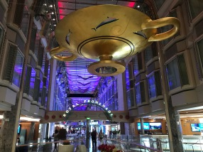 Independence of the Seas Royal Promenade with sign