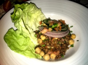 Special vegan meal Independence of the seas chickpea lentil salad
