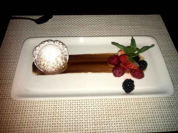 Special vegan meal Independence of the seas dessert