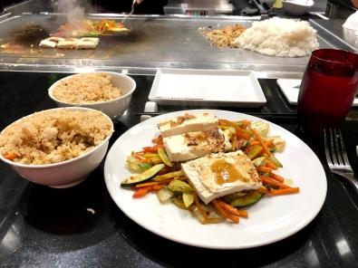Izumi Independence of the Seas vegan meal