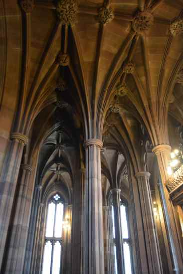 John Rylands Library interior vertical