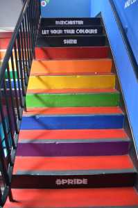 Pride/Rainbow Stairs Manchester Let Your True Colours Shine