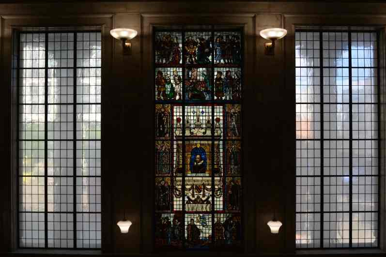 Stained glass Manchester Central Library