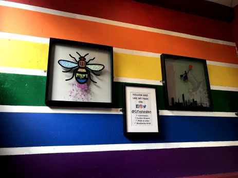 Rainbow and Bee Artwork Afflecks Manchester