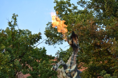 Fire Breathing Dragon at Wawel Castle Krakow