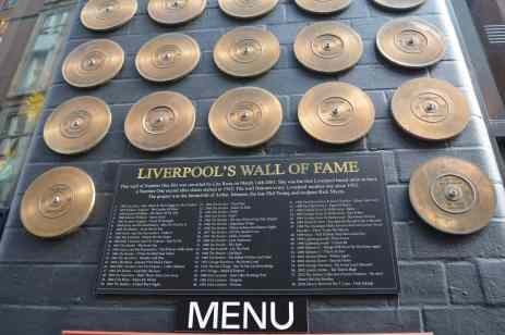 Liverpool Wall of Fame Mathew Street