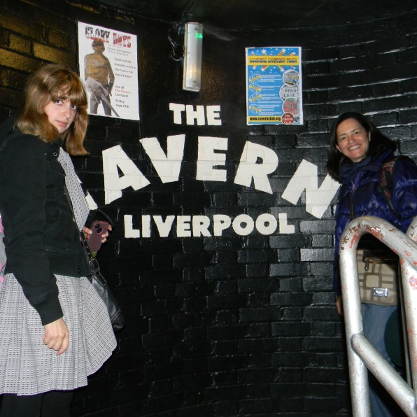 Angie and her mum at the Cavern Club 2013