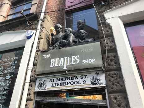 Beatles Shop Mathew Street Liverpool