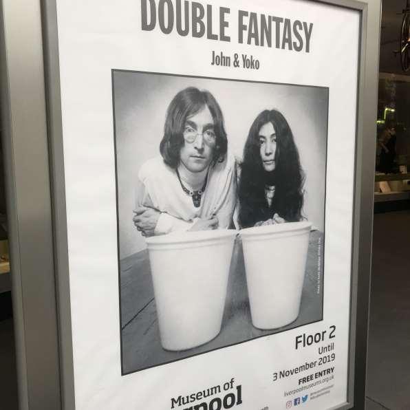 John and Yoko Double Fantasy Exhibit Sign