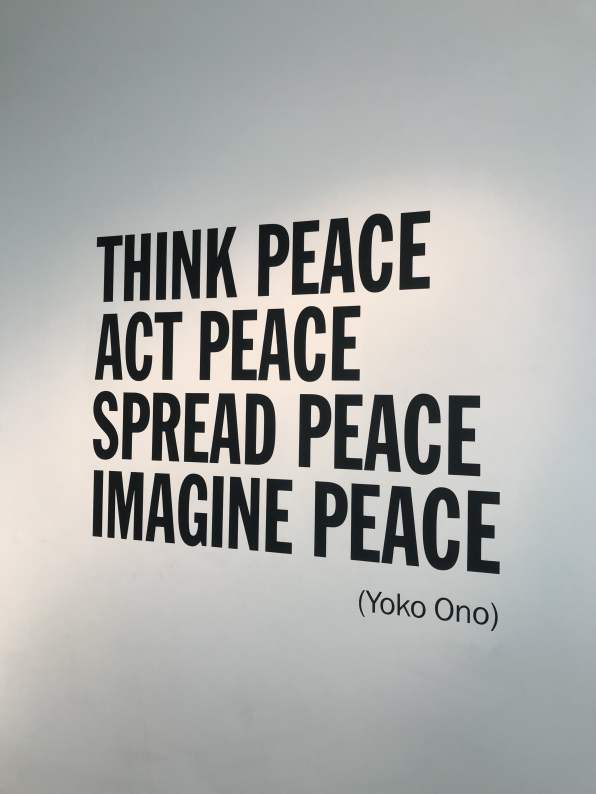 Think Peace Act Peace Spread Peace Imagine Peace Yoko Ono Quote