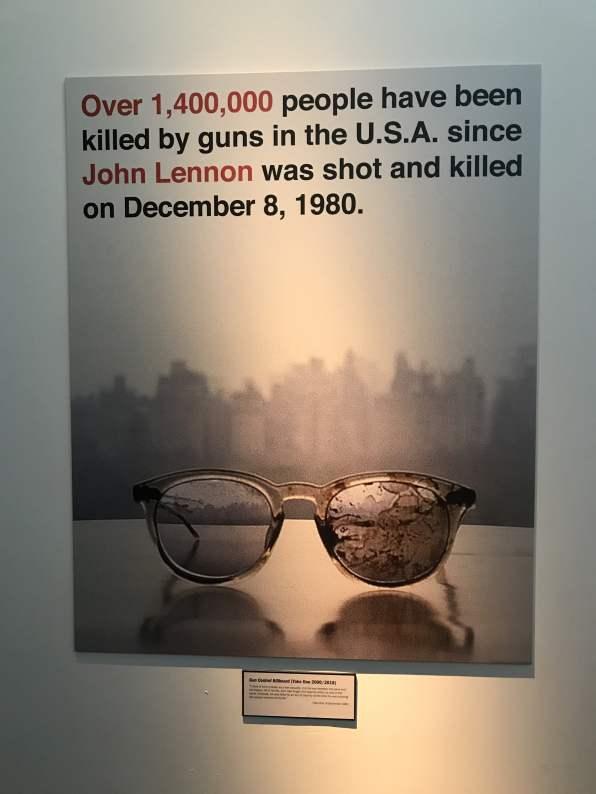 John Lennon gun violence awareness poster