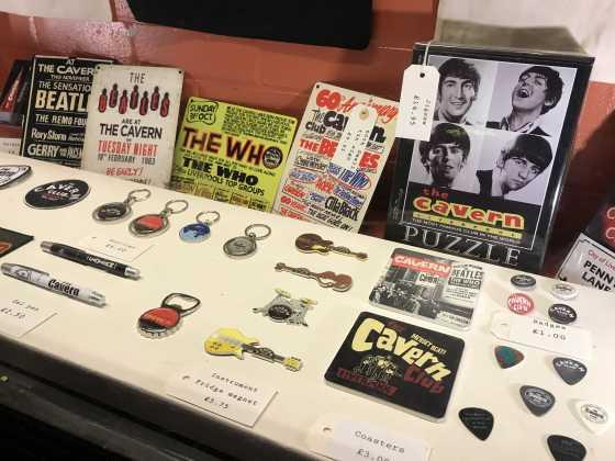 Cavern Club guitar picks, postcards, keychains, souvenirs
