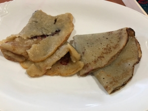 Bad Excelsior Food 3 - Supposedly Vegan - Depressing Looking Crepes