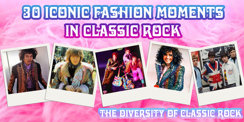 30 Iconic Fashion Moments in Classic Rock - Crazy on Classic Rock