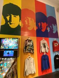 Beatles Pinball Machine and shirts-min