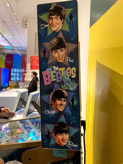 Beatles Pinball Machine Side-min