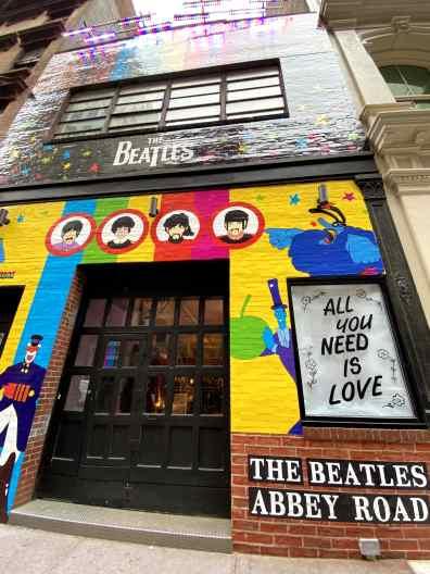 Beatles Pop Up Shop NYC Exterior-min