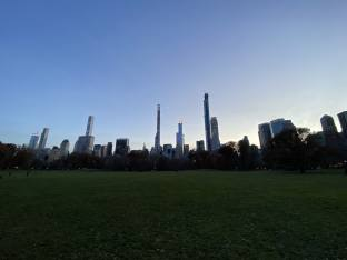 Sheeps Meadow Wide Angle Skyline Central Park-min